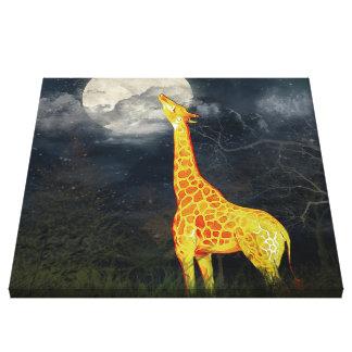 ¿Como qué la luna prueba? Lona de la jirafa y de Impresión En Lienzo