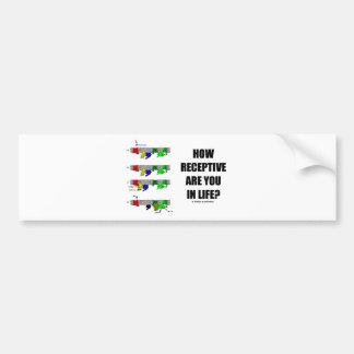 ¿Cómo receptivo es usted en vida? (Biología Pegatina Para Coche
