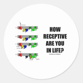 ¿Cómo receptivo es usted en vida? (Biología Pegatina Redonda