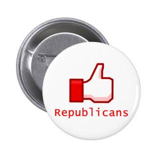 Como republicanos pin redondo 5 cm