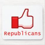 Como republicanos tapete de ratón