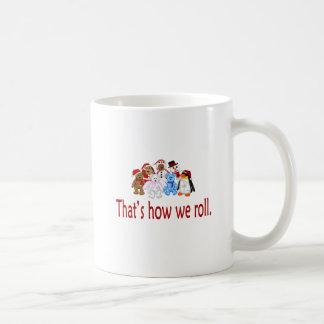 Cómo rodamos a la cuadrilla del navidad tazas de café