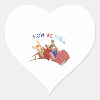 Cómo rodamos pegatina en forma de corazón