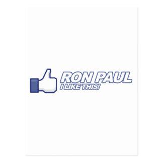 Como Ron Paul - voto 2012 del presidente de la ele Tarjetas Postales
