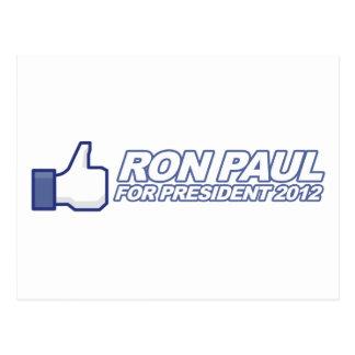 Como Ron Paul - voto 2012 del presidente de la ele Tarjeta Postal