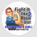 Como Rosie cure la artritis Etiquetas Redondas