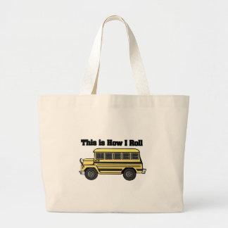 Cómo ruedo (el autobús escolar) bolsa tela grande