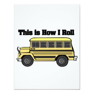 """Cómo ruedo (el autobús escolar) invitación 4.25"""" x 5.5"""""""