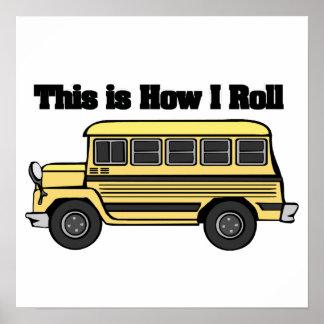 Cómo ruedo el autobús escolar poster