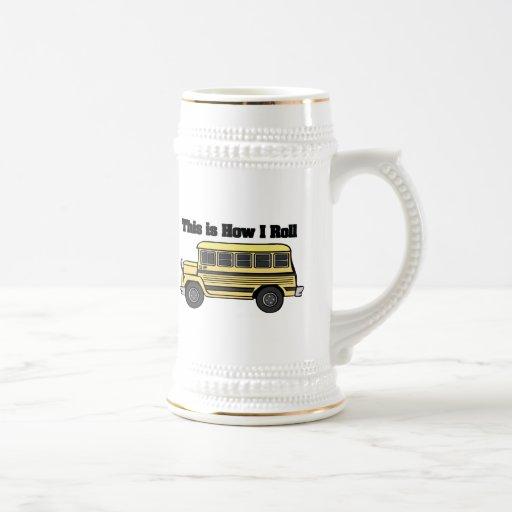 Cómo ruedo (el autobús escolar) taza de café