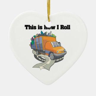 Cómo ruedo (el camión de basura) ornamentos de navidad