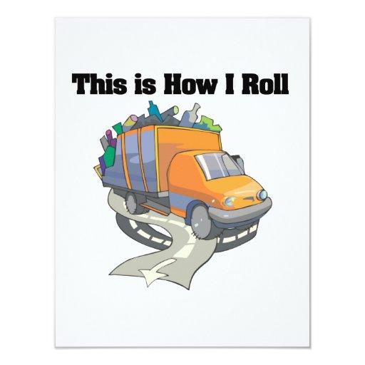 Cómo ruedo (el camión de basura) invitaciones personales