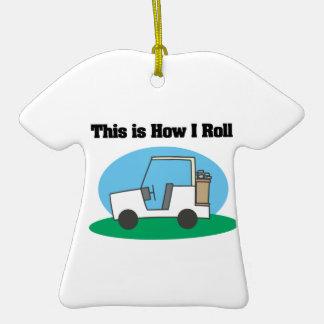 Cómo ruedo (el carro de golf) ornamento para reyes magos