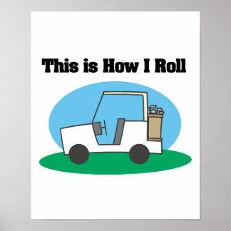Cómo ruedo (el carro de golf) póster