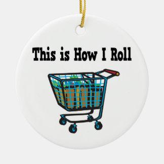 Cómo ruedo el carro de la compra ornamento de navidad