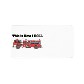 Cómo ruedo el coche de bomberos el camión etiquetas de dirección