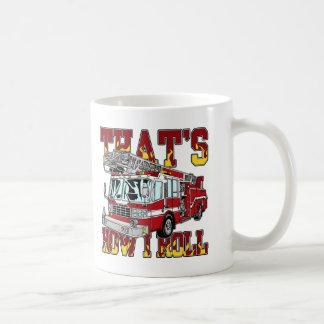 Cómo ruedo el coche de bomberos taza de café
