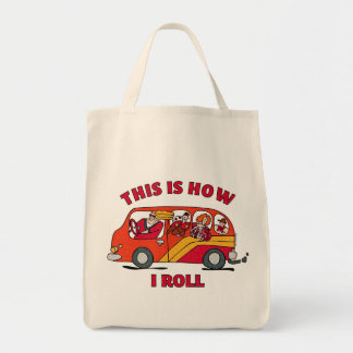Cómo ruedo el minivan de la mamá bolsa tela para la compra