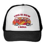 Cómo ruedo el minivan de la mamá gorras