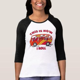 Cómo ruedo el minivan de la mamá camisetas