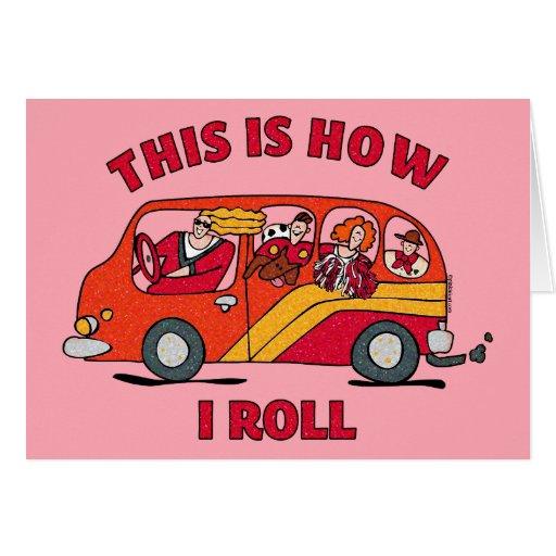 Cómo ruedo el minivan de la mamá tarjeta de felicitación