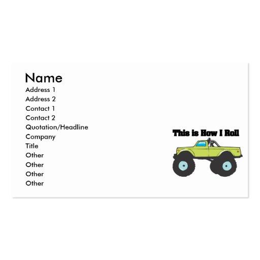 Cómo ruedo (el monster truck) tarjeta de negocio