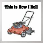 Cómo ruedo (el motor del césped) póster