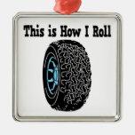 Cómo ruedo el neumático adorno navideño cuadrado de metal
