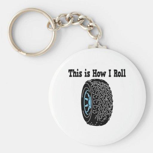 Cómo ruedo el neumático llaveros