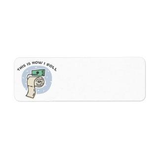 Cómo ruedo (el papel higiénico) etiqueta de remitente