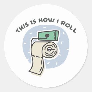 Cómo ruedo (el papel higiénico) pegatina redonda