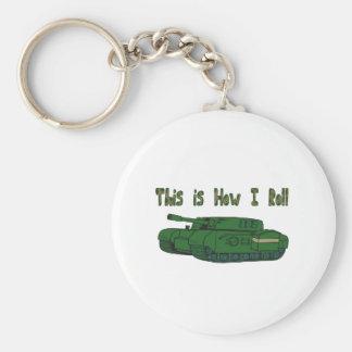 Cómo ruedo (el tanque militar) llavero redondo tipo pin