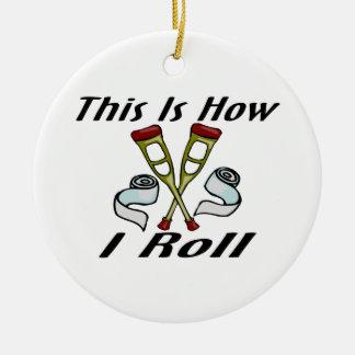 Cómo ruedo herido ornaments para arbol de navidad