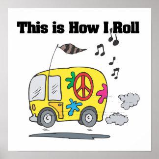 Cómo ruedo (Hippie Van) Póster