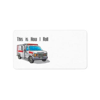 Cómo ruedo la ambulancia etiqueta de dirección