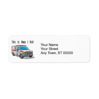 Cómo ruedo la ambulancia etiqueta de remite