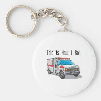 Cómo ruedo la ambulancia llavero redondo tipo pin