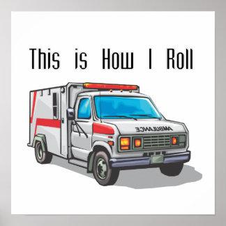 Cómo ruedo la ambulancia póster