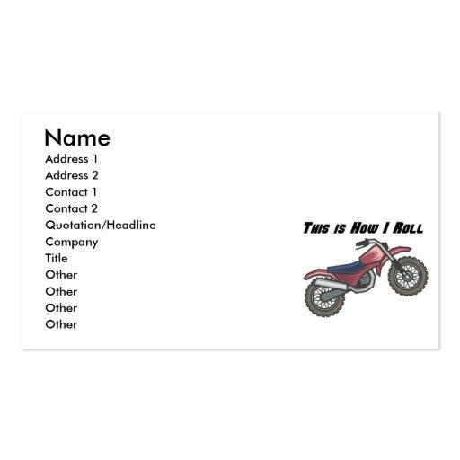 Cómo ruedo (la bici de la suciedad) tarjetas personales