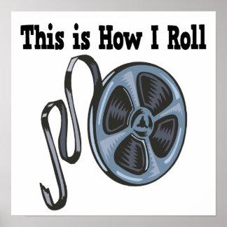 Cómo ruedo la cinta de la película de cine póster