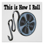 Cómo ruedo la cinta de la película de cine posters
