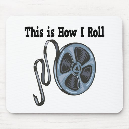 Cómo ruedo la cinta de la película de cine mousepad