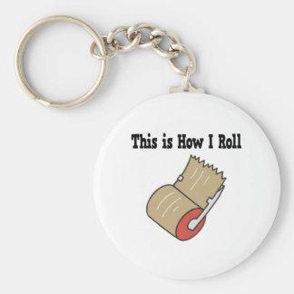 Cómo ruedo la cinta del embalaje del correo llavero redondo tipo pin