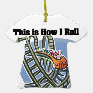 Cómo ruedo (la montaña rusa) adorno de cerámica en forma de playera
