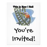 Cómo ruedo (la montaña rusa) invitaciones personalizada