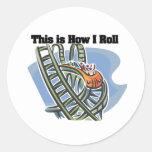 Cómo ruedo (la montaña rusa) pegatina redonda