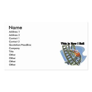 Cómo ruedo (la montaña rusa) tarjetas de visita