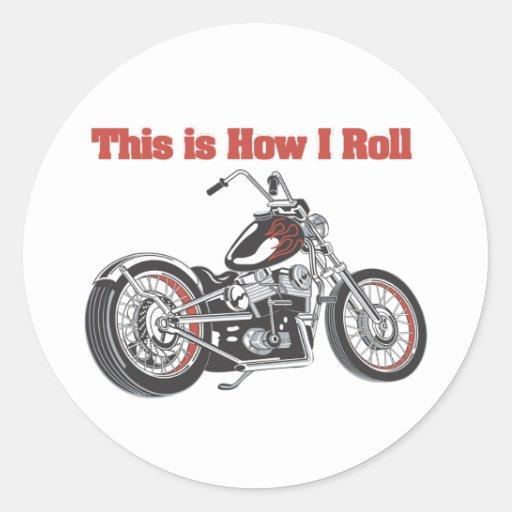 Cómo ruedo (la motocicleta) etiqueta redonda