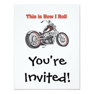 """Cómo ruedo (la motocicleta) invitación 4.25"""" x 5.5"""""""