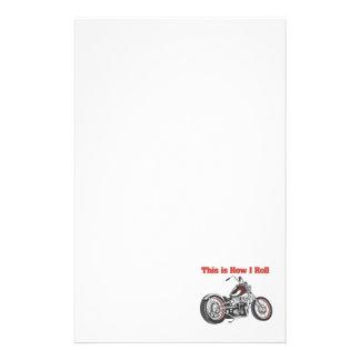 Cómo ruedo (la motocicleta) papeleria de diseño